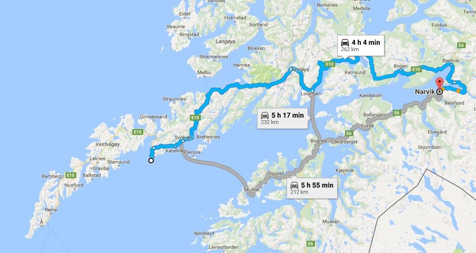 挪威地图罗弗顿群岛